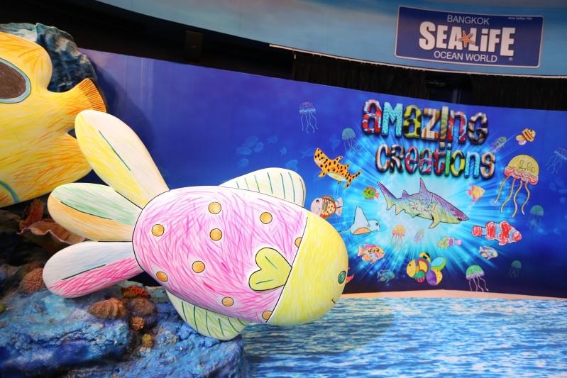 งาน Amazing Creations มหัศจรรย์วาดฝันใต้ทะเลลึกเหนือจินตนาการ ที่ ซีไลฟ์ แบงคอก โอเชี่ยน เวิร์ล (1